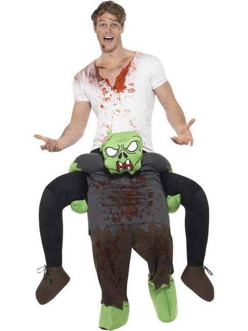 Piggyback Zombie Costume, Halloween Zombie Alley Fancy Dress, One Size