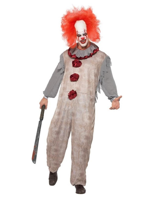 Vintage Clown Costume,Halloween Cirque Sinister Fancy Dress, Medium