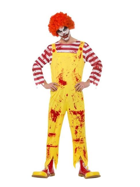 Kreepy Killer Clown Costume,Halloween Cirque Sinister Fancy Dress, XL