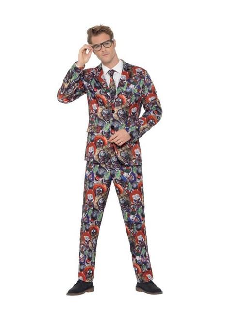 Evil Clown Suit, Stand Out Suits Halloween Fancy Dress, Large