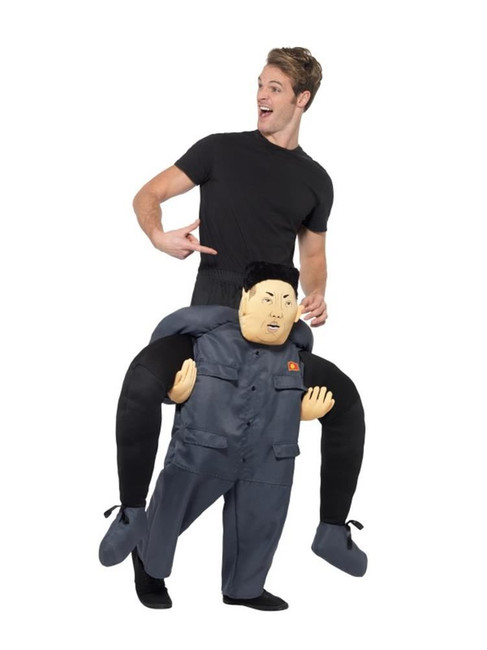 Piggyback Dictator Costume, Korean Kim Jong-un,Fancy Dress, One Size
