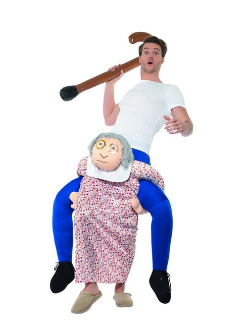 Piggyback Grandma Costume, Fancy Dress, One Size
