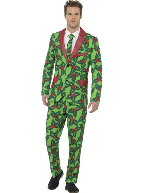 Holly Berry Suit, Stand Out Suits Fancy Dress, XL