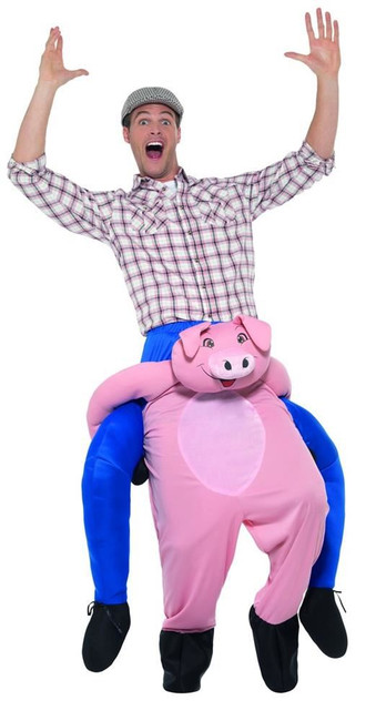 Piggyback Pig Costume, Fancy Dress, One Size