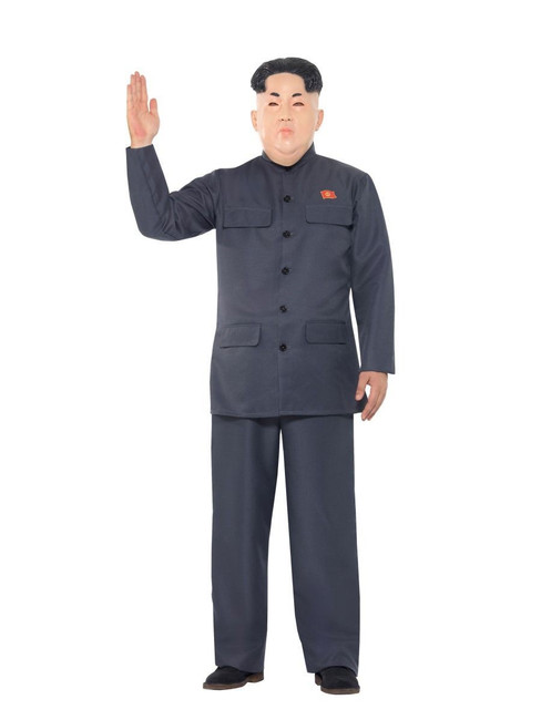 Kim Jong-Un Korean Dictator Costume, Fancy Dress, Large