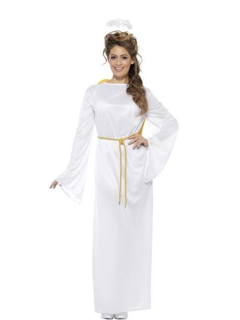 """Angel Gabriel Costume,Unisex,Christmas Adult Fancy Dress, Size up to 48"""""""