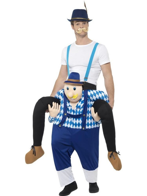 Piggyback Bavarian Costume, Oktoberfest Bee Festival Fancy Dress, One Size