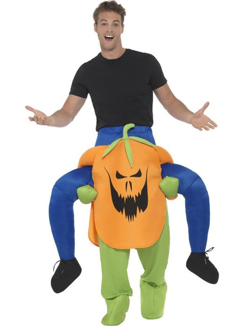 Piggyback Pumpkin Costume, Halloween Adult Fancy Dress, One Size