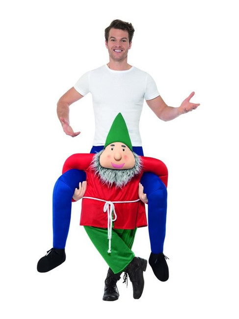 Piggyback Gnome Costume, Fancy Dress, One Size