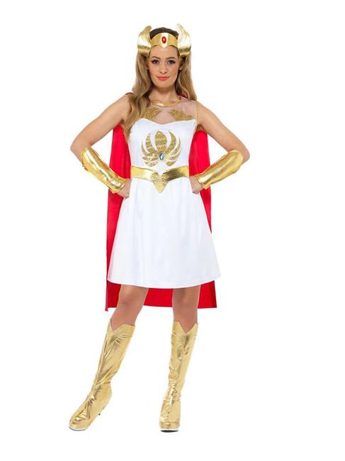 She-Ra Glitter Print Costume, She-Ra Licensed Fancy Dress, UK Size 8-10