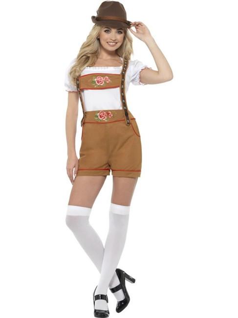 Sexy Bavarian Beer Girl Costume, Oktoberfest Festival Fancy Dress, UK 12-14