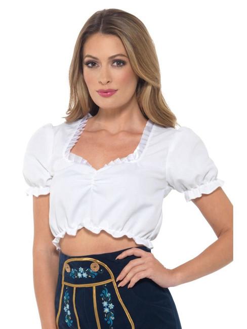 Bavarian Maid Crop Top, Oktoberfest Beer Festival Fancy Dress, UK Size 16-18
