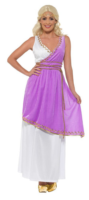 Grecian Goddess Costume, Roman/Greek/Toga Fancy Dress, UK Size 12-14