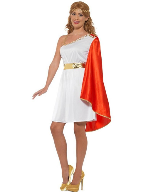 Roman Lady Costume, Greek Toga, Historical Fancy Dress, UK Size 8-10