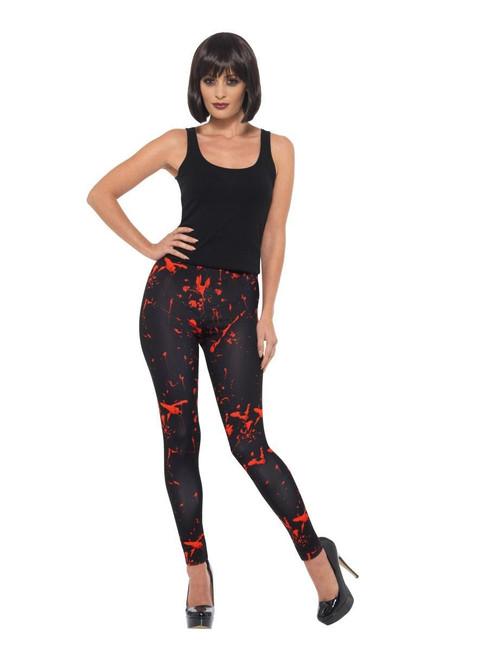 Horror Leggings, Halloween Fancy Dress Accessories, UK Size 6-14