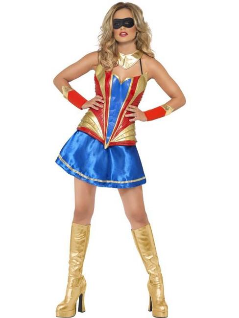 Fever Hero Hottie Costume, UK Dress 12-14