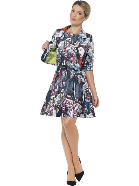 Zombie Suit, Medium, Halloween Fancy Dress, Womens, UK 12-14