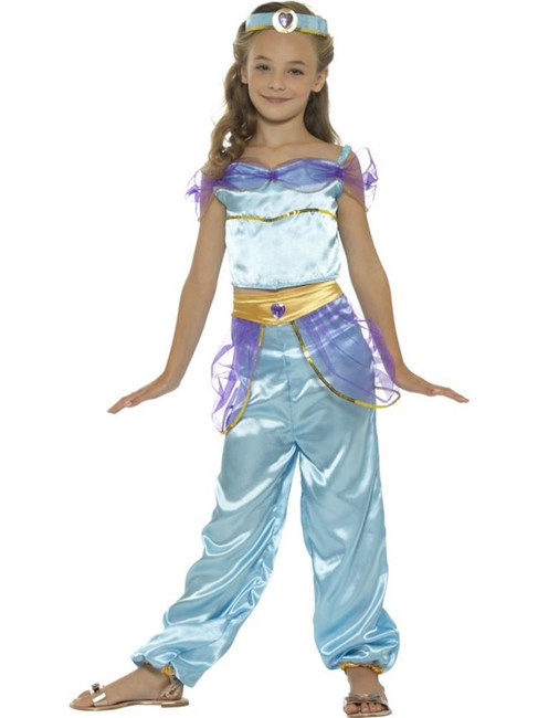 Arabian Princess Costume, Girls Fancy Dress, Small Age 4-6