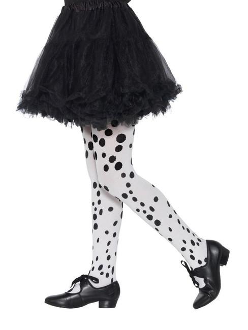 Dalmatian Tights Childs Black & White, Girls/Children's Tights, Age 6-12