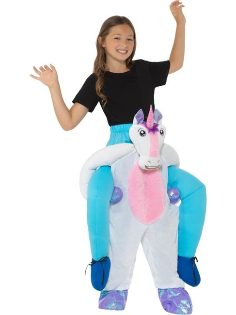 Kids Piggyback Unicorn Costume, Children's Animal Fancy Dress, One Size