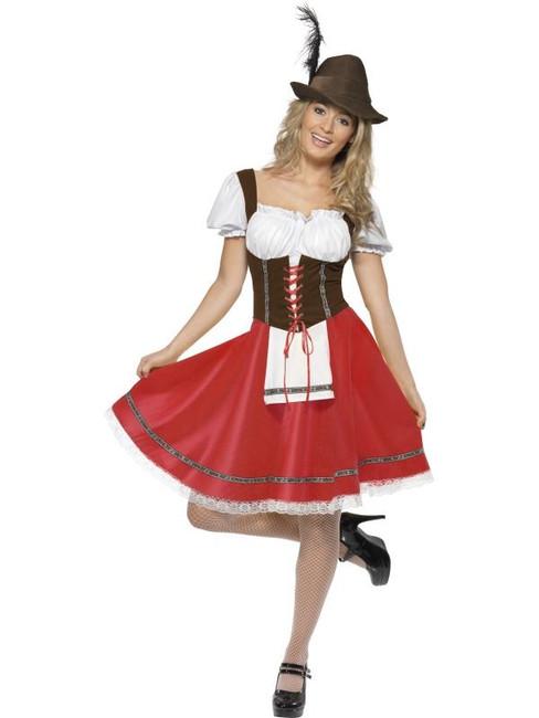 Bavarian Wench Costume, UK Dress 8-10