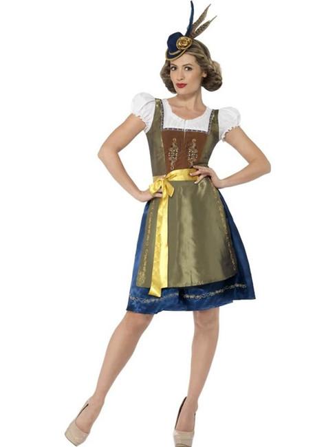 Deluxe Heidi Bavarian Costume Small Oktoberfest German Fancy Dress UK 8-10