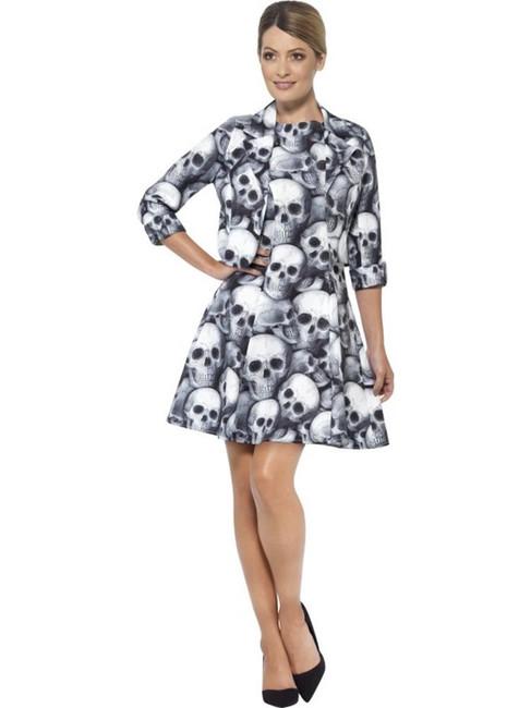Skeleton Suit, Small, Halloween Fancy Dress, Womens, UK 8-10