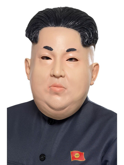 Kim Jong-Un Korean Dictator Overhead Mask Flesh Latex, Fancy Dress, One Size