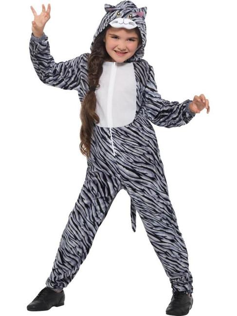 Tabby Cat Costume, Children's Animal Fancy Dress, Small Age 4-6