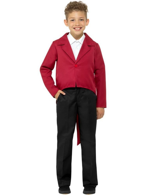Red Tailcoat,Ringmaster,The Greatest Showman, Fancy Dress,Small Age 4-6