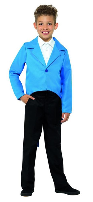 Blue Tailcoat, Dance/Ringmaster/Showman, Fancy Dress, Large Age 10-12
