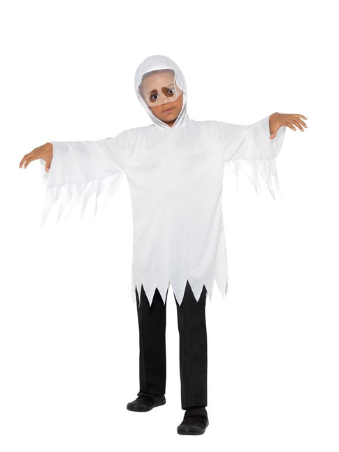 Ghost Costume, Halloween Child Fancy Dress, Medium/Large Age 8-12