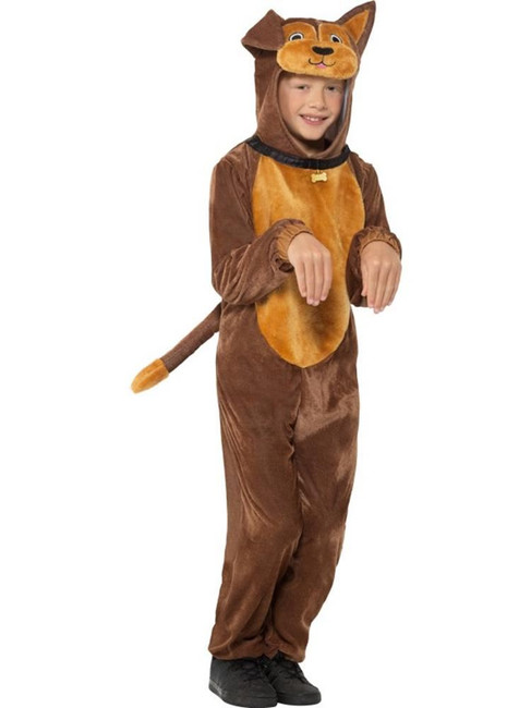 Dog Costume, Brown, Children's Animal Fancy Dress, Large Age 10-12