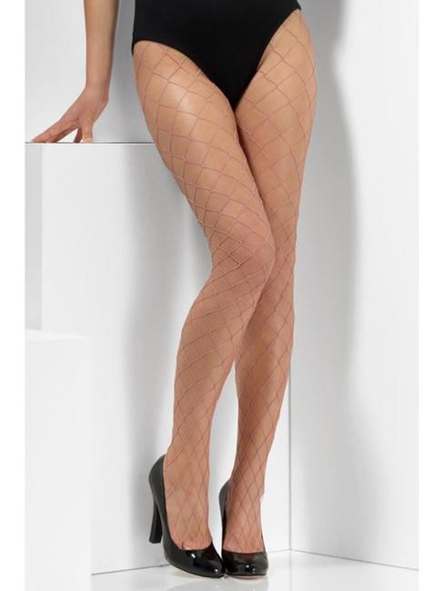Pink Diamond Net Tights, Fever Hosiery, UK Size 6-18