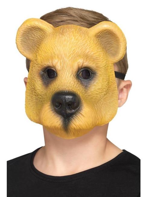 Bear Mask Child Light Brown, Children's Animal Fancy Dress, One Size