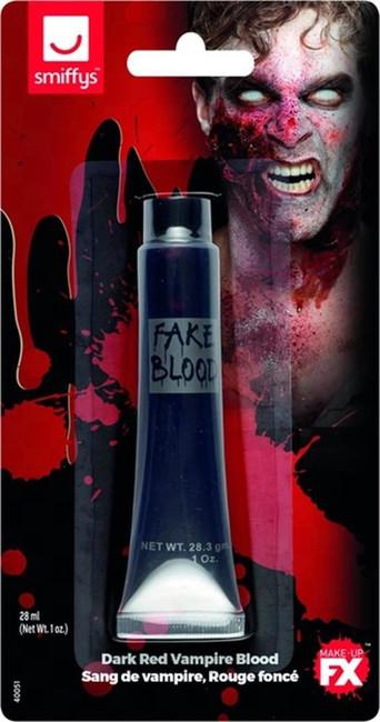 Vampire Blood Dark Red Tube 28ml/1 oz, Halloween Facepaint/Makeup