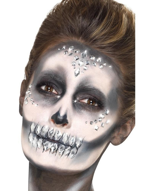 Jewel Face Gems Silver Sheet of 100, Facepaint/Makeup