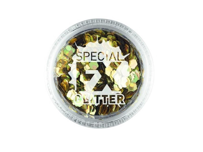 Confetti Glitter Gold 2g Loose, Facepaint/Makeup