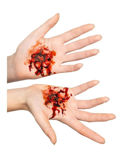 Latex Stigmata Wound Prosthetics Flesh With Adhesive, Facepaint