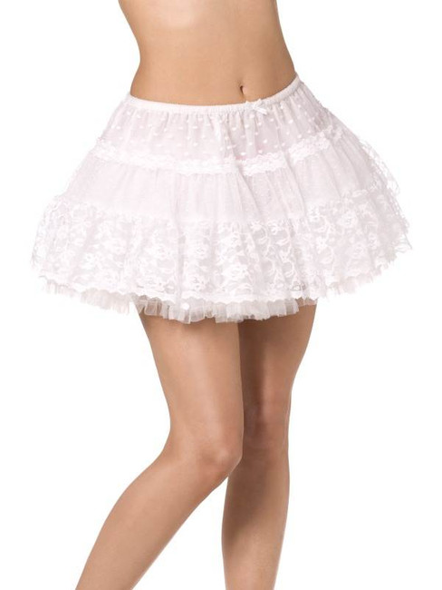 Fever Boutique Lace Petticoat, White