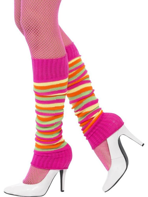 Legwarmers, Adult Fancy Dress Costumes, NEON