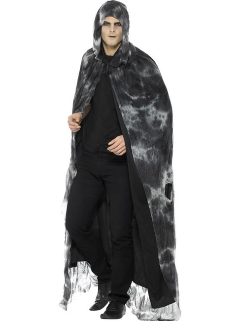 Deluxe Spellbound Decayed Cape, Halloween Fancy Dress Accessories. One Size