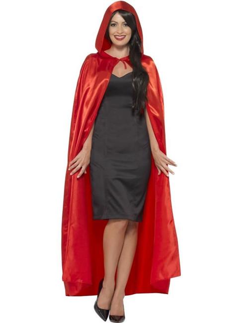Hooded Cape, Halloween Fancy Dress, RED