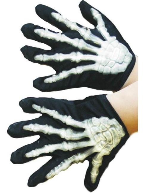Skeleton Gloves, Child.  One Size