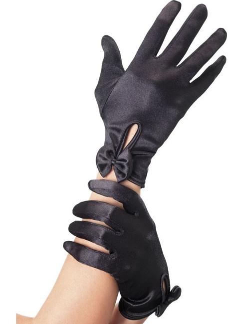 Gloves, Short, Black, Fever Gloves