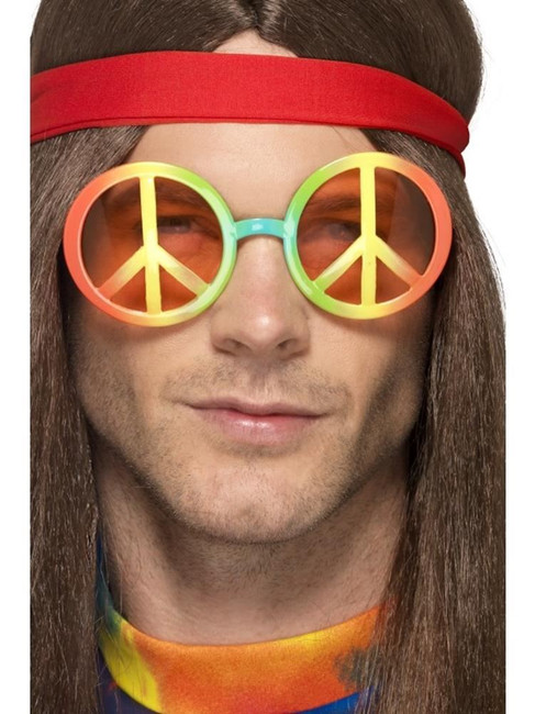 Hippie Specs, Glasses, Adult Fancy Dress Costumes, MULTI