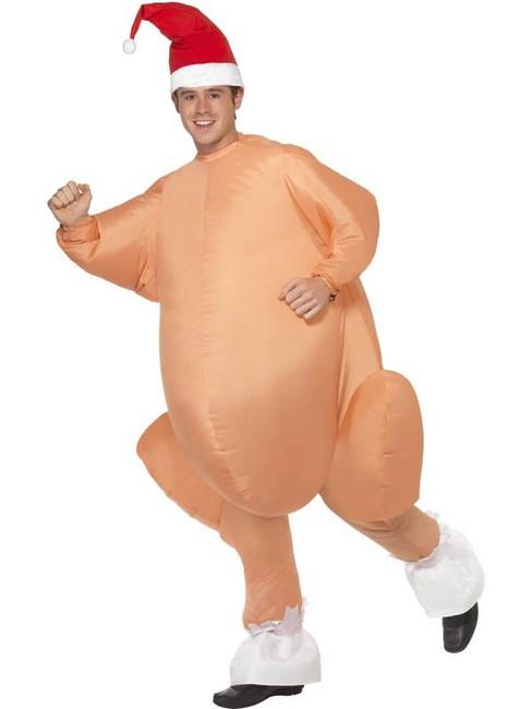 Inflatable Christmas Roast Turkey, One Size