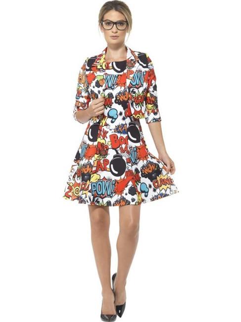 Comic Strip Suit, Medium, Adult Fancy Dress Costumes, Womens, UK 12-14