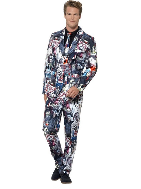 Zombie Suit, Medium, Halloween Fancy Dress, Mens