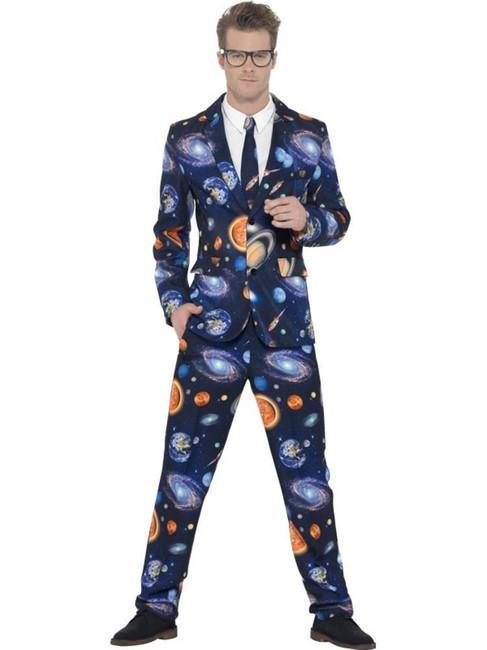 Space Suit, Large, Adult Astronaut Fancy Dress Costumes, Mens